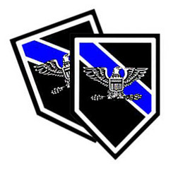 Thin Blue Line Shield Shaped Police Chief Decals Pack of 4