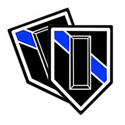 Thin Blue Line Shield Shaped Police Lieutenant Rank Decals. Pack of 4