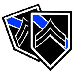 Thin Blue Line Police Corporal Decal