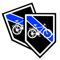 Thin Blue Line Police Bicycle Unit Decal