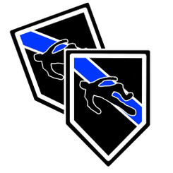 Thin Blue Line Homicide Unit Shield Shaped Police Decal Package of 4