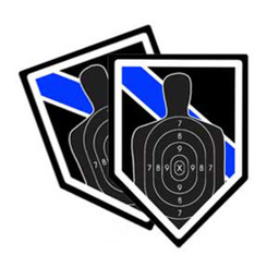 Thin Blue Line Marksmanship Unit Shield Shaped Police Decal Package of 4