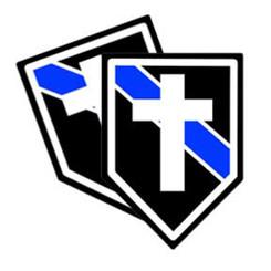 Thin Blue Line Chaplain Unit Shield Shaped Police Decal Package of 4