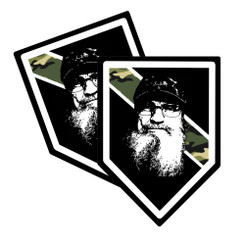Thin Camoflauge Line Uncle Si Shield Shaped Decal Package of 4