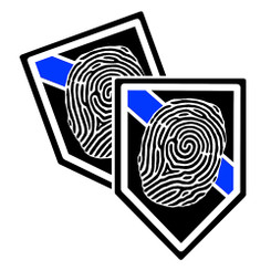 Thin Blue Line Forensics Unit Shield Shaped Police Decal Package of 4