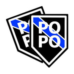Thin Blue Line PO PO Unit Shield Shaped Police Decal Package of 4