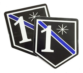 Thin Blue Line 1 Ass to Risk Unit Shield Shaped Police Decal Package of 4