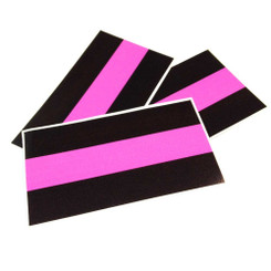 Thin Pink Line Decal Package of 4