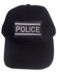 Black Tactical Velcro Cap with Police Patch