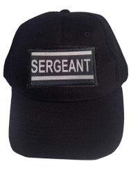 Black tactical Velcro Cap With Sergeant Patch