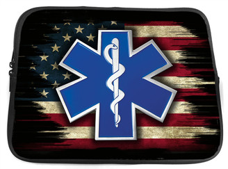 EMS Star of Life Neoprene Zippered Tablet Sleeve