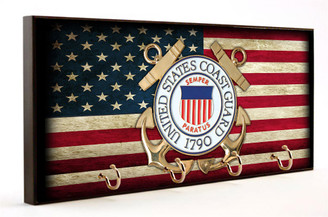 U.S. Coast Guard American Flag Key Hanger