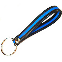 Thin Blue Line Silicone Key Fob Package of 3