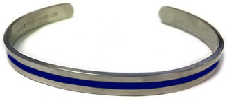 Thin Blue Line Stainless Steel Squeeze Bracelet - Law Enforcement