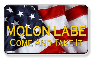 Molon Labe Come and Take It American Flag Magnet - PACKAGE OF 4