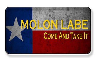 Molon Labe Come and Take it Texas Flag - PACKAGE OF 4