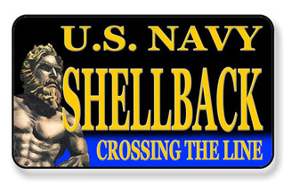U.S. Navy Shellback Crossing The Line Magnet - PACKAGE OF 4