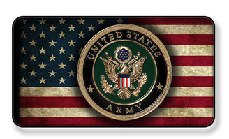 United States Army On Distressed American Flag Magnet - Package of 4
