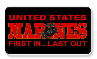 United States Marine Corp First In Last Out Magnet - PACKAGE OF 4