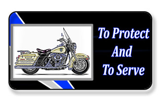 To Protect And To Serve Motorcycle Unit Magnet - PACKAGE OF 4