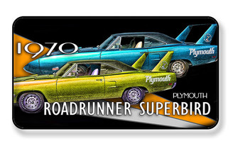 1970 Plymouth Roadrunner Superbird Magnet - PACK OF 4