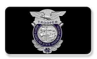 North Carolina State Trooper Highway Patrol Magnet - PACKAGE OF 4
