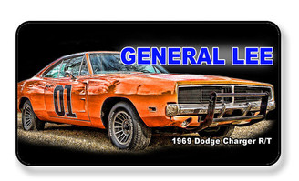 General Lee 01 1969 Dode Charger R/T Magnet - PACKAGE OF 4
