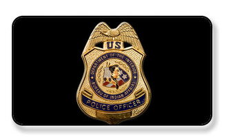 U.S. Department of the Interior Bureau of Indidan Affairs Police Badge Magnet- PACKAGE OF 4