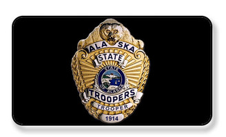 Alaska State Trooper Badge Magnet - PACKAGE OF 4