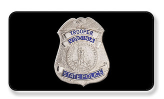 Virginia State Trooper State Police Badge Magnet - PACKAGE OF 4