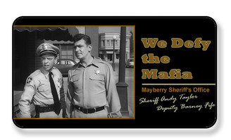 We Defy The Mafia Mayberry Sheriff's Office Magnet - PACKAGE OF 4