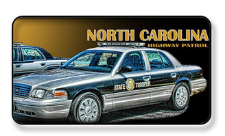 North Carolina Highwayy Patrol Car Magnet - PACKAGE OF 4