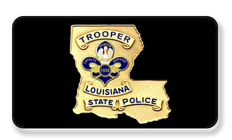 Louisiana State Trooper Police Magnet - PACKAGE OF 4