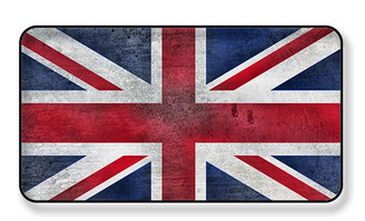 Distressed British Flag Magnet -PACKAGE OF 4