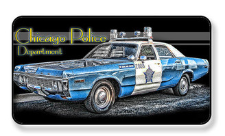 Chicago Police Department Vintage Police Car Magnet - PACKAGE OF 4