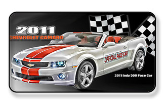 2011 Chevy Camaro Indy 500 Pace Car Magnet - PACKAGE OF 4