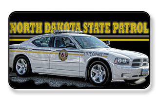 North Dakota State Patrol Police Car Magnet - PACK OF 4