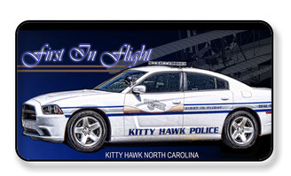 First In Flight Kitty Hawk Police Car Magnet - PACK OF 4