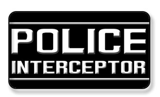 Police Interceptor Magnet - PACK OF 4