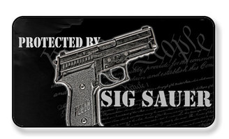 Protected By A Sig Sauer Magnet - PACKAGE OF 4