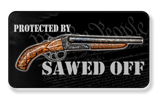Protected By Sawed Off Shot Gun We The People Magnet - PACKAGE OF 4