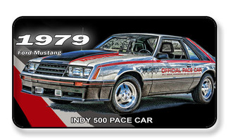 1979 Ford Mustang Indy 500 Pace Car Magnet - PACKAGE OF 4
