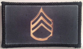 Army Staff Sergeant Velcro Patch - PACKAGE OF 4
