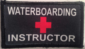 Waterboarding Instructor Velcro Patch - PACKAGE OF 4