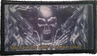 The Punisher You Have The Right To Remain Silent Velcro Patch - PACKAGE OF 4