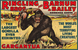 Vintage Ringling Bros & Barnum & Bailey Gargantua The Great Gorilla Poster