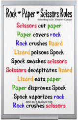 Rock, Paper, Scissors Rules Big Bang Theory Poster