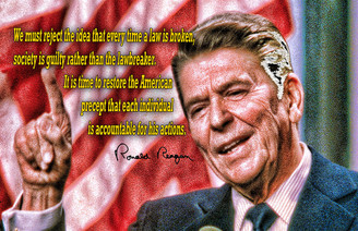 Ronald Regan Each American is Accountable for His Actions - Poster