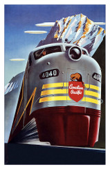 Canadian Pacific Train Poster
