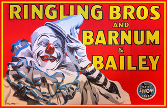Vintage Ringling Bros & Barnum & Bailey Clown Poster